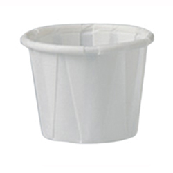 500-PCS075-P - CUPS SOUFFLE PAPER DISP PORTION RIBBED DURABLE MULTI-PLEATS 0.75OZ WHITE (250/SL 20SL/CS 5000/CS)
