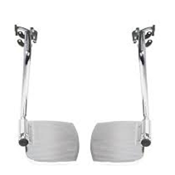 500-STDDSF - WHEELCHAIR ACCESSORIES FOOTRESTS (F/R) SWINGAWAY F/500-WC SERIES 16-20IN WIDE (PR)