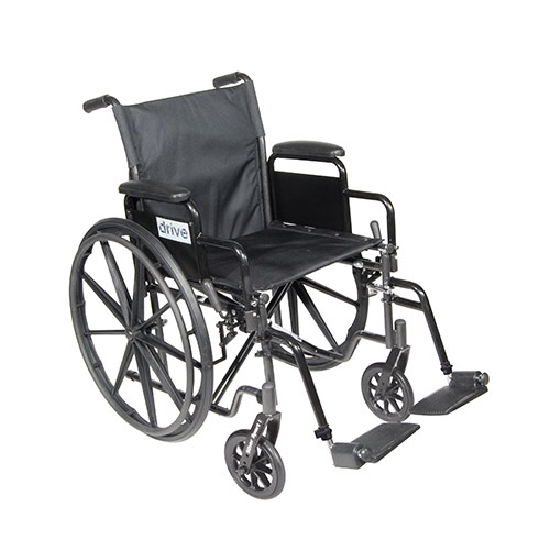 500-WC18DF - WHEELCHAIR 18IN DET DESK ARMS F/R 300LB CAP (EA)