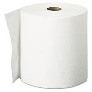 600-89460W - TOWELS PAPER DISP ROLL HARDWOUND 1PLY WHITE/BLEACH 10IN MADE USA (800FT/RL 6RL/CS)