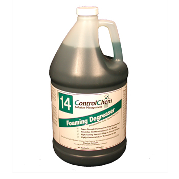 600-ESCC14-G2.5 - CLEANERS DEGREASER FOOD SERVICE / KITCHEN FLOORS FOAMING ALKALINE 32-64:1 DIL 2.5GL CONTROLCHEM #14 MADE USA (2/CS)