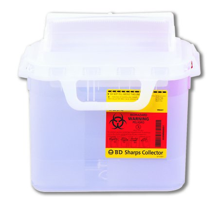 Bd305444 Sharps Containers 5 4 Qt Side Entry Lid Pearl 20 Cs