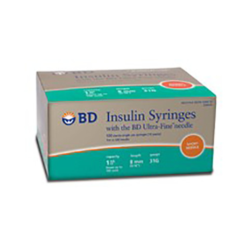 Bd328418 Syringes Safety Insulin Disp St 31g X 5 16in 1ml