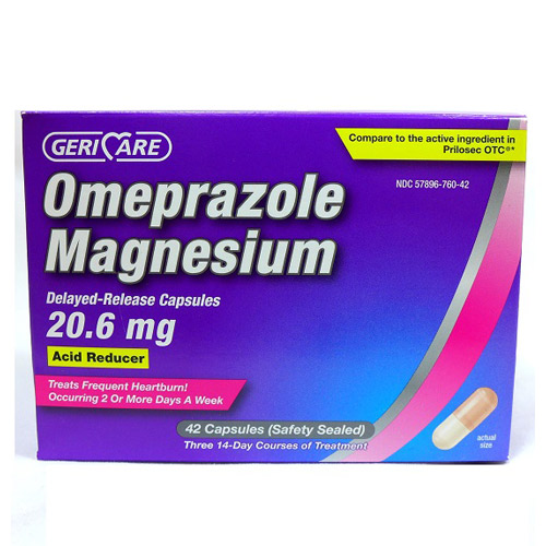 PH168 - ANTACIDS OMEPRAZOLE 20.6MG CAPSULES W/MAGNESIUM DELAYED RELEASE COMPARE TO PRILOSEC (42/BX 24/CS)