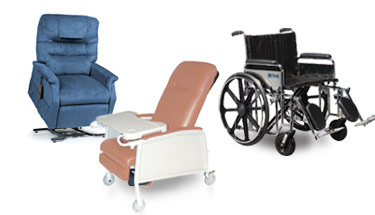 Wheelchairs, Recliners & Scooters